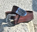 Celtic Treasure - belt_brown_silver_pewter_a